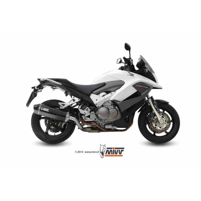 MIVV Honda Crossrunner 11-14 Speed Edge Steel Black H.053.Lrb