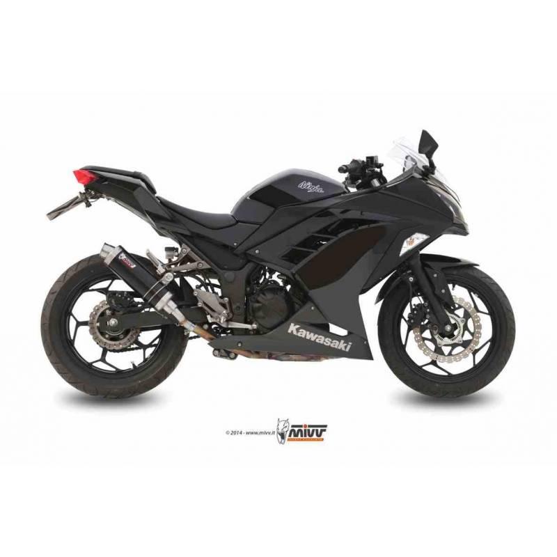 MIVV Kawasaki Ninja 300 13- / Z300 Gp Steel Black K.038.Lxb