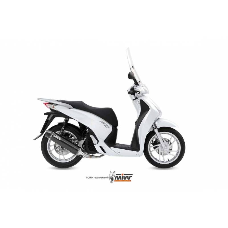 MIVV Honda Sh 125-150 13- Stronger Steel Black H.052.Lbsc
