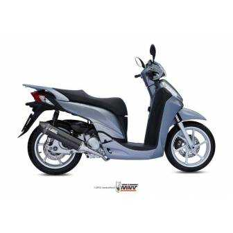 MIVV Honda Sh 300 07- 2014 Stronger Steel Black H.049.Lbsc