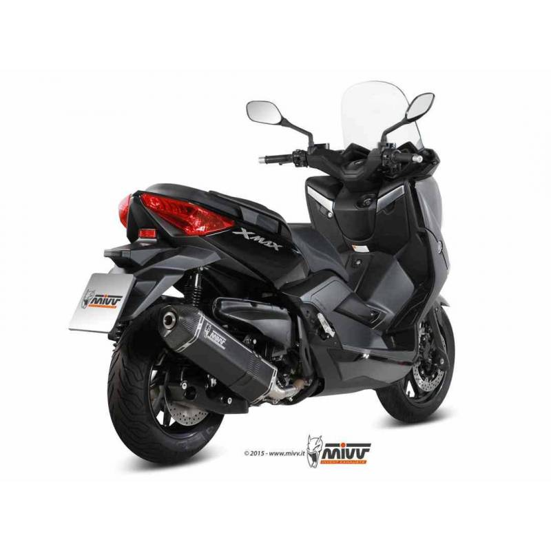 MIVV Yamaha X-Max 400 13- Speed Edge Steel Black Y.043.Lrb