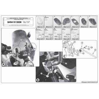 Kit Anclajes Givi Específico A147a