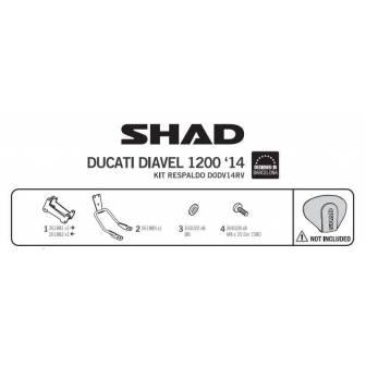 Fijacion respaldo SHAD DUCATI DIAVEL 1198 (12-17)