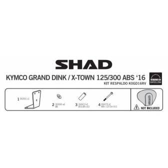 Fijacion respaldo SHAD KYMCO X-TOWN/GRAND DINK 125i/300i (16-17)