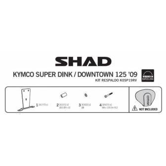 Fijacion respaldo SHAD KYMCO SUPER DINK 125/300 (09-15)
