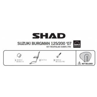 Fijacion respaldo SHAD SUZUKI BURGMAN 125/200 (14-17)