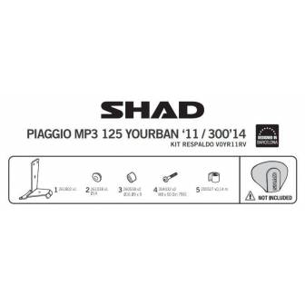 Fijacion respaldo SHAD PIAGGIO MP3 125/300 YOURBAN (11-17)