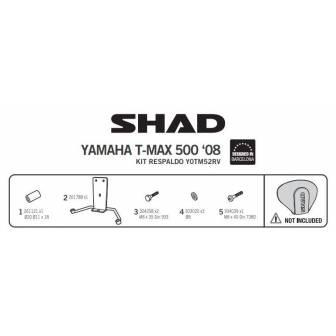 Fijacion respaldo SHAD YAMAHA T-MAX 530 (12-16)