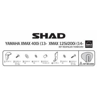 Fijacion respaldo SHAD YAMAHA X-MAX 125/250/400 i (14-17)