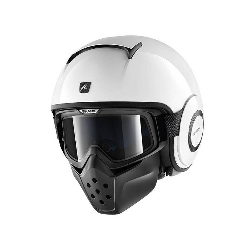 Casco Shark Drak - Blank blanco