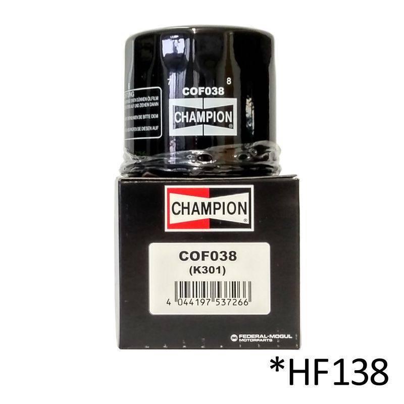 Filtro de aceite Champion COF038 (HF138)