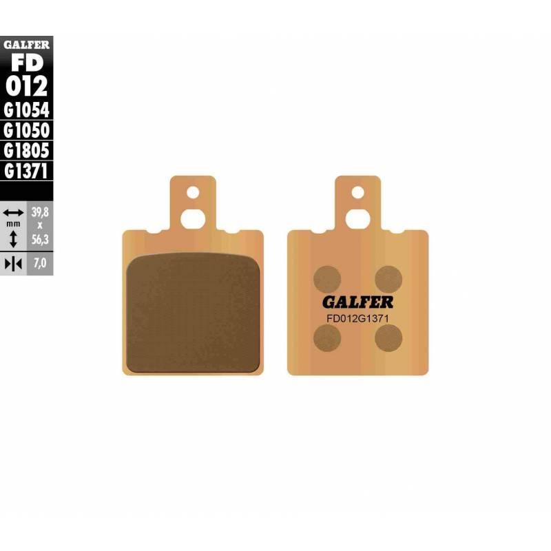 PASTILLAS FRENO GALFER FD012-G1371 MOTO (sinterizado) traseras