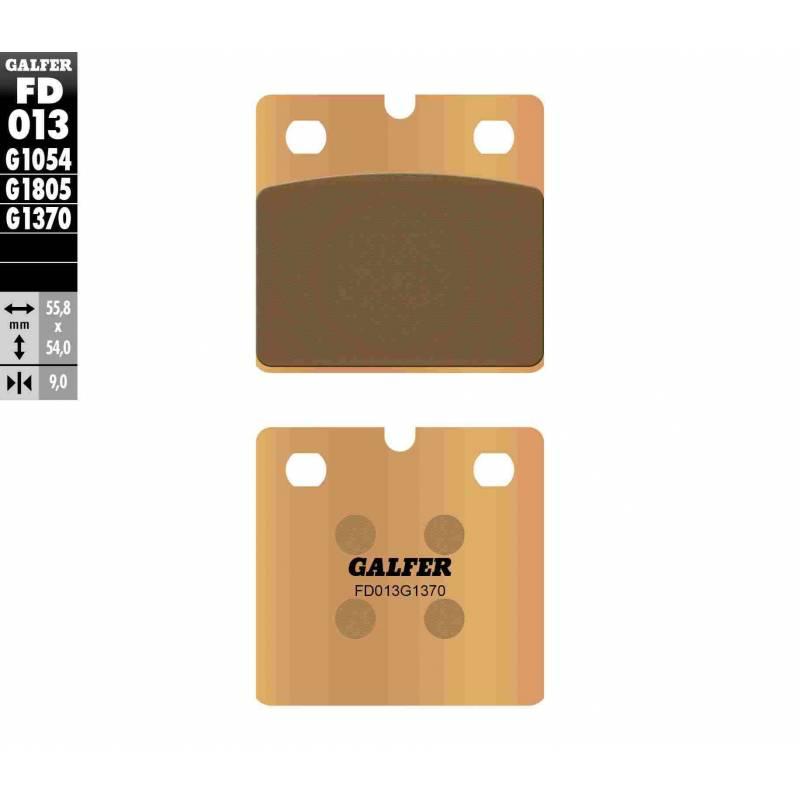PASTILLAS FRENO GALFER FD013-G1370 MOTO (sinterizado)