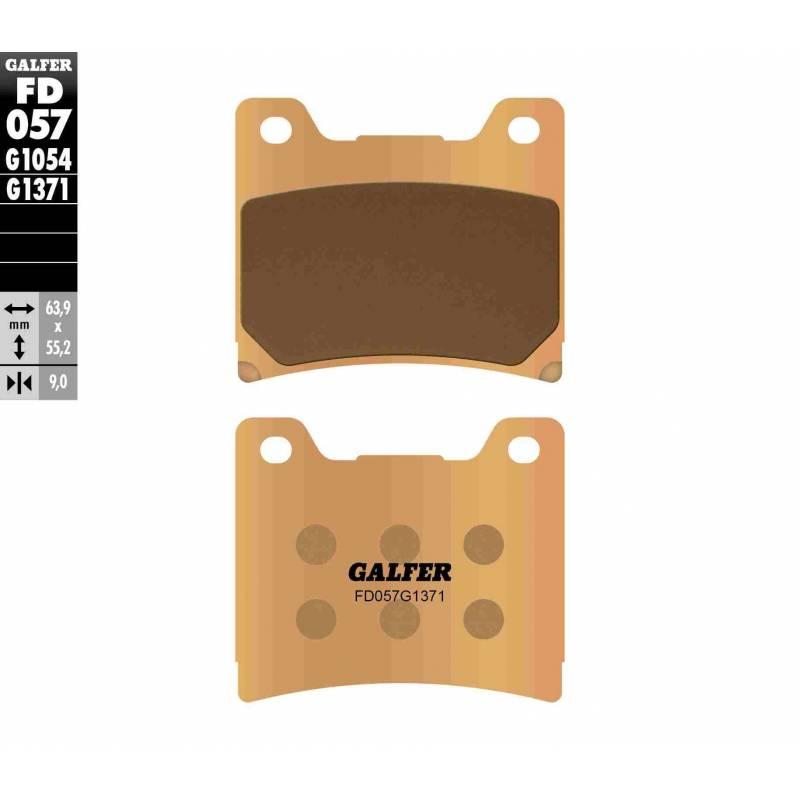 PASTILLAS FRENO GALFER FD057-G1371 MOTO (sinterizado) traseras