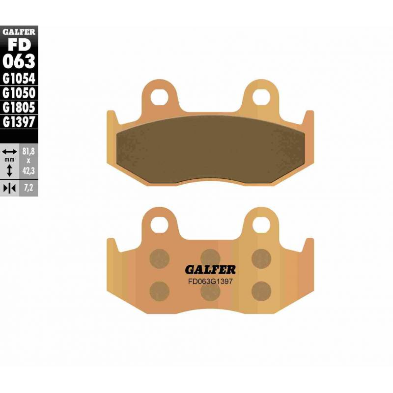 PASTILLAS FRENO GALFER FD063-G1397 OFF ROAD (Quads/ATV)