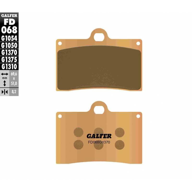 PASTILLAS FRENO GALFER FD068-G1370 MOTO (sinterizado)