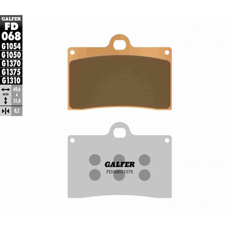 PASTILLAS FRENO GALFER FD068-G1375 OFF ROAD (Quads/ATV)