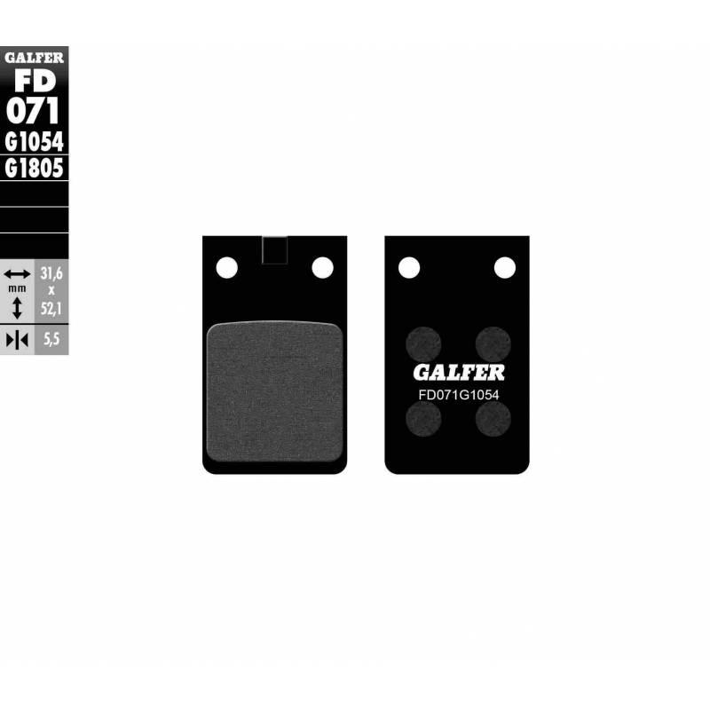 PASTILLAS FRENO GALFER FD071-G1054 (semi-metálicas)