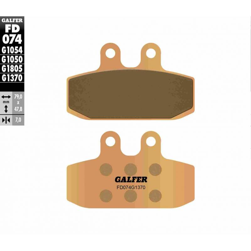 PASTILLAS FRENO GALFER FD074-G1370 MOTO (sinterizado)