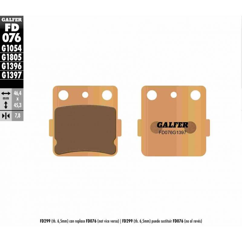 PASTILLAS FRENO GALFER FD076-G1397 OFF ROAD (Quads/ATV)
