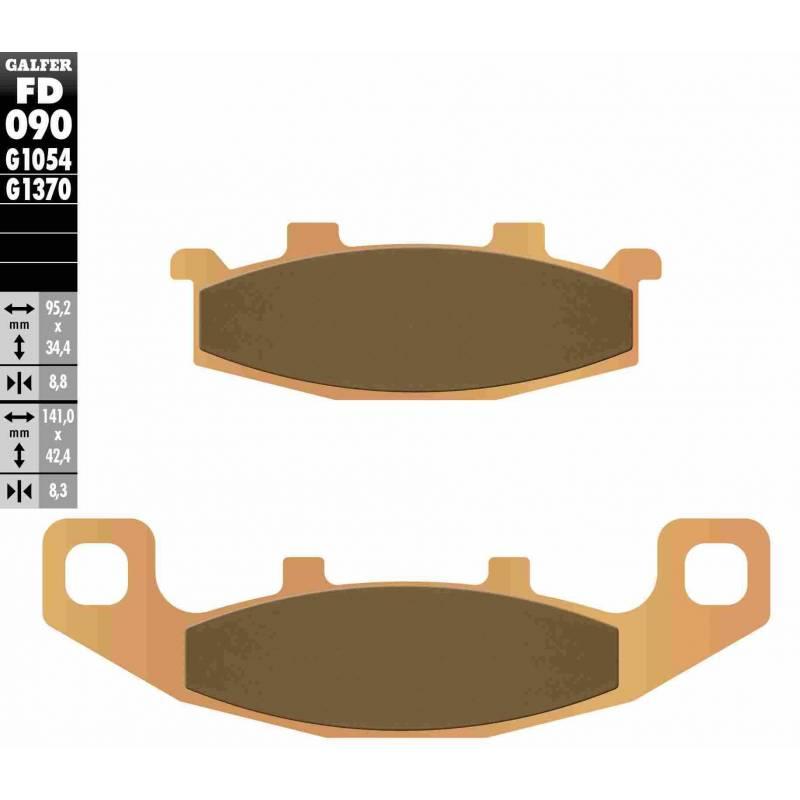 PASTILLAS FRENO GALFER FD090-G1370 MOTO (sinterizado)