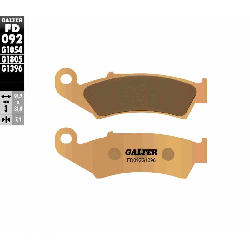 PASTILLAS FRENO GALFER FD092-G1396 OFF ROAD