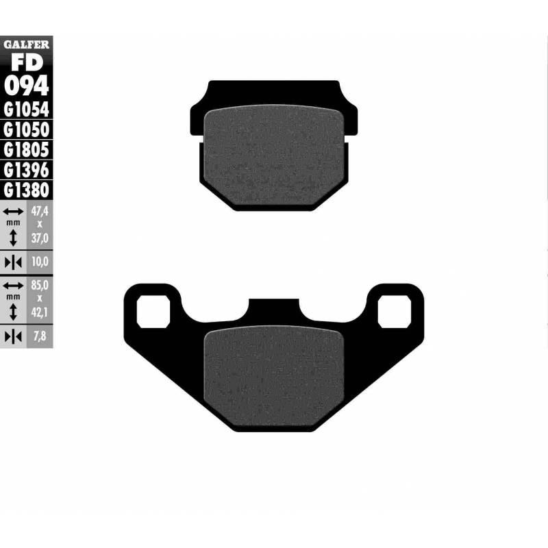 PASTILLAS FRENO GALFER FD094-G1054 (semi-metálicas)