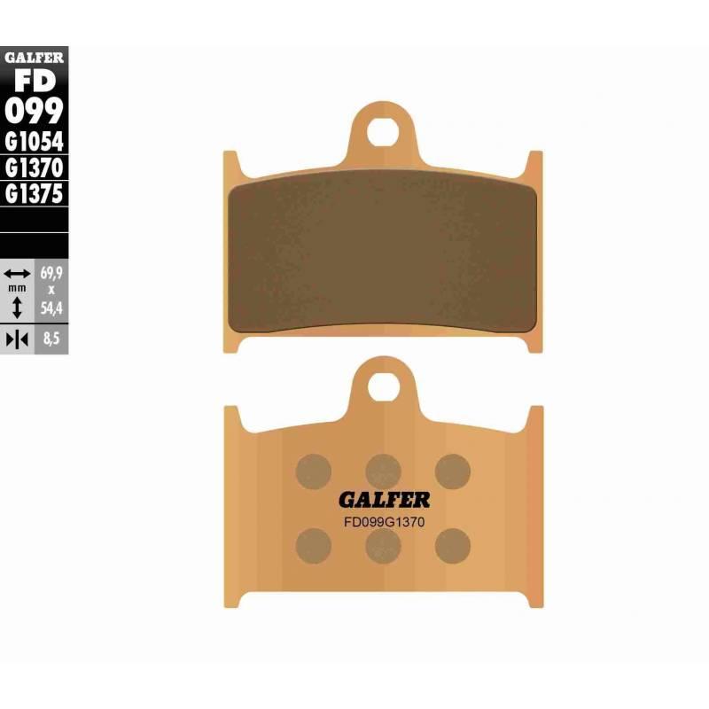 PASTILLAS FRENO GALFER FD099-G1370 MOTO (sinterizado)