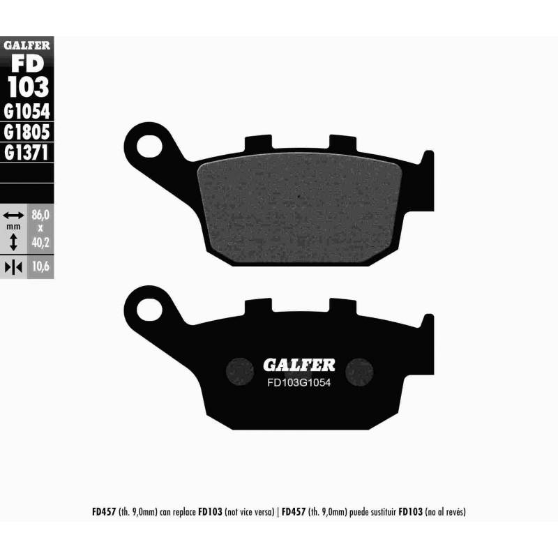 PASTILLAS FRENO GALFER FD103-G1054 (semi-metálicas)