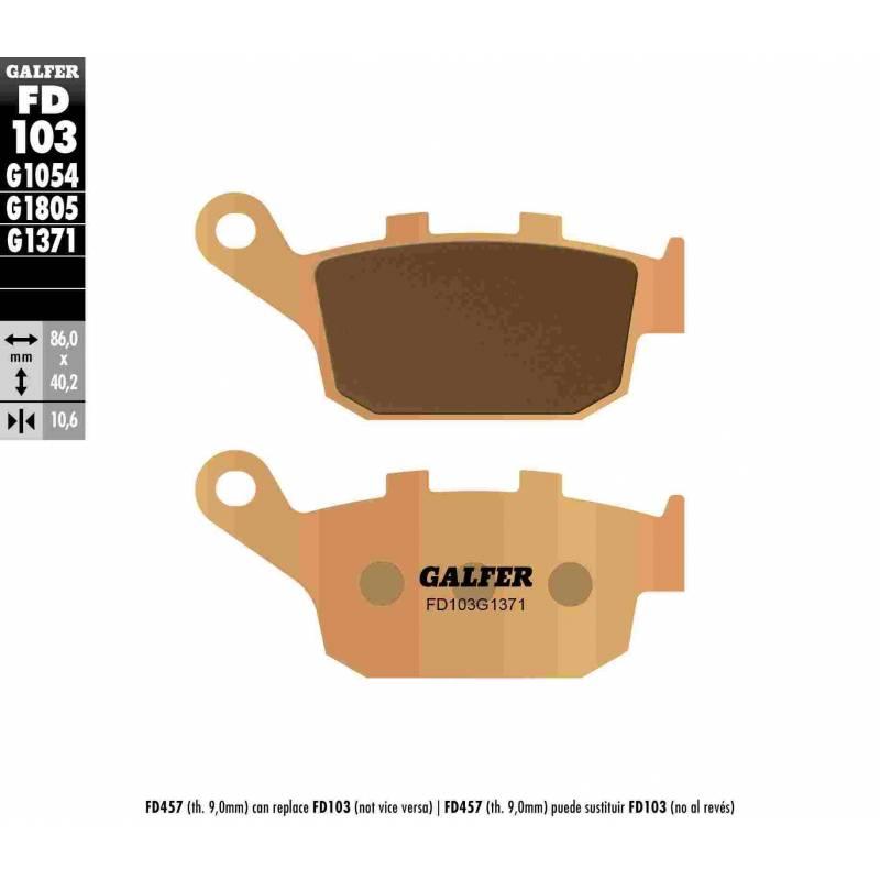 PASTILLAS FRENO GALFER FD103-G1371 MOTO (sinterizado) traseras
