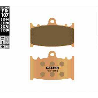 PASTILLAS FRENO GALFER FD107-G1370 MOTO (sinterizado)