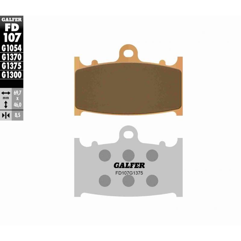 PASTILLAS FRENO GALFER FD107-G1375 MOTO (cerámico/metálico)
