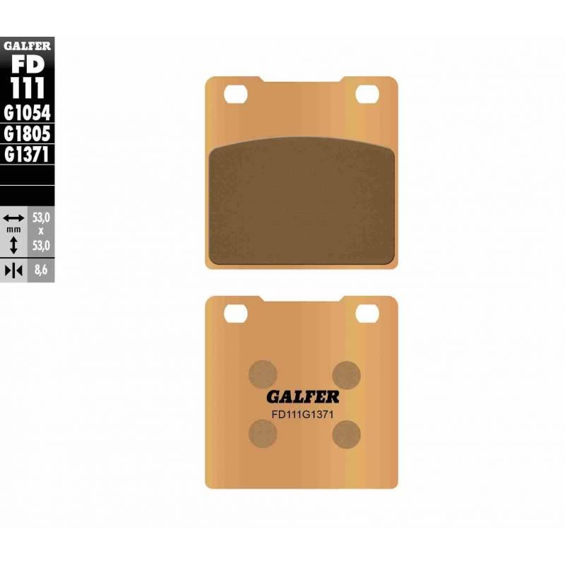 PASTILLAS FRENO GALFER FD111-G1371 MOTO (sinterizado) traseras