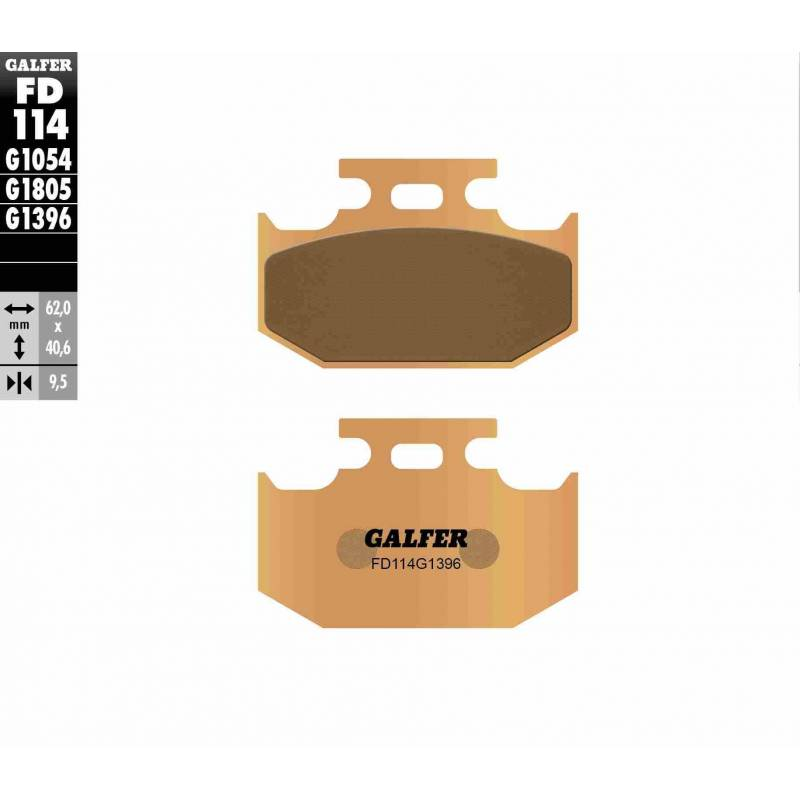 PASTILLAS FRENO GALFER FD114-G1396 OFF ROAD