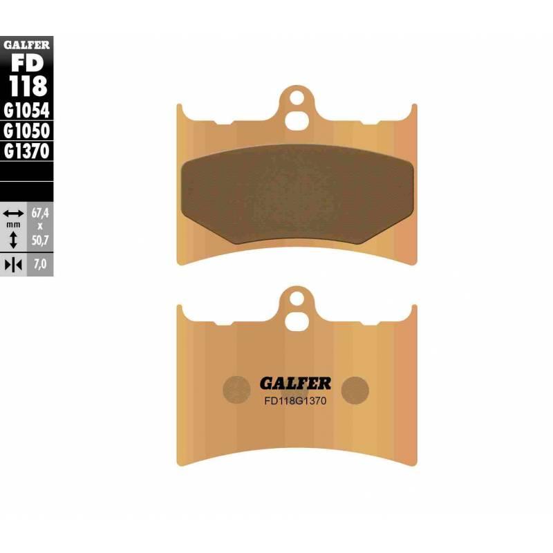 PASTILLAS FRENO GALFER FD118-G1370 MOTO (sinterizado)
