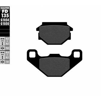 PASTILLAS FRENO GALFER FD135-G1054 (semi-metálicas)