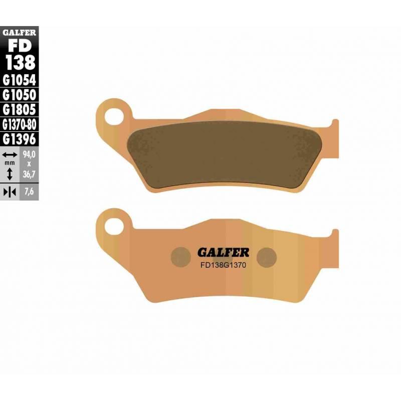 PASTILLAS FRENO GALFER FD138-G1370 MOTO (sinterizado)