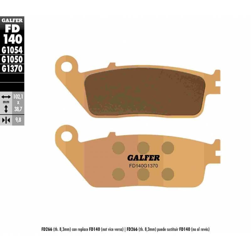 PASTILLAS FRENO GALFER FD140-G1370 (metalico)