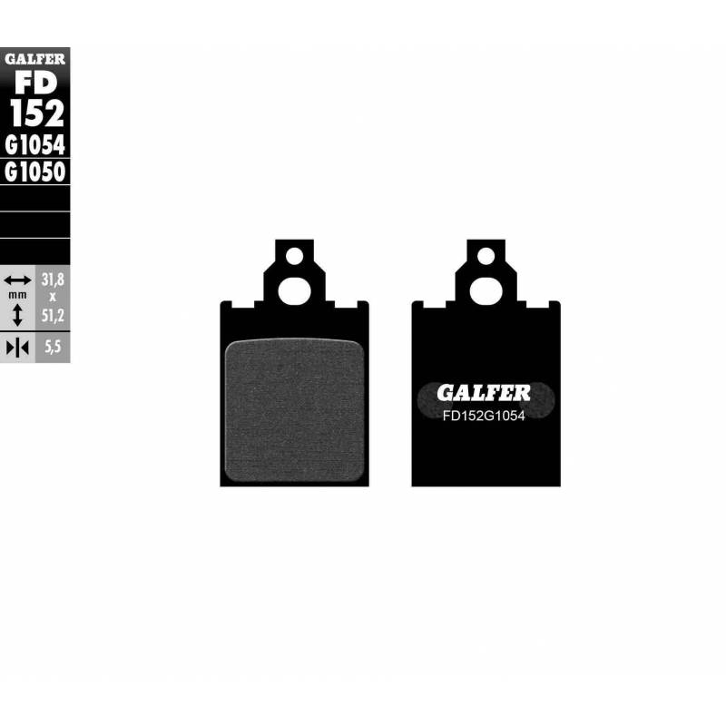 PASTILLAS FRENO GALFER FD152-G1054 (semi-metálicas)