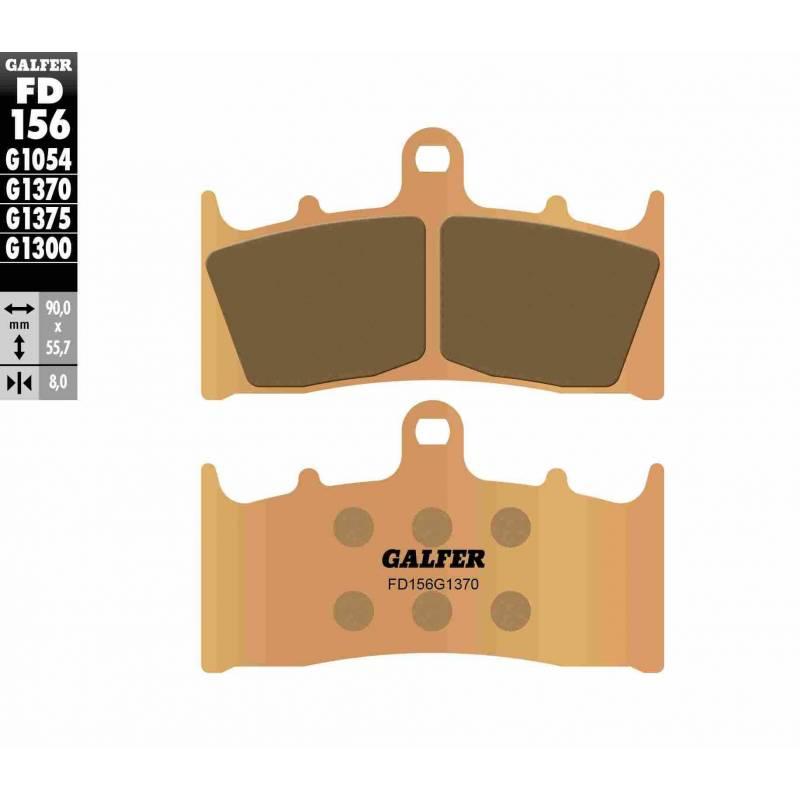 PASTILLAS FRENO GALFER FD156-G1370 MOTO (sinterizado)