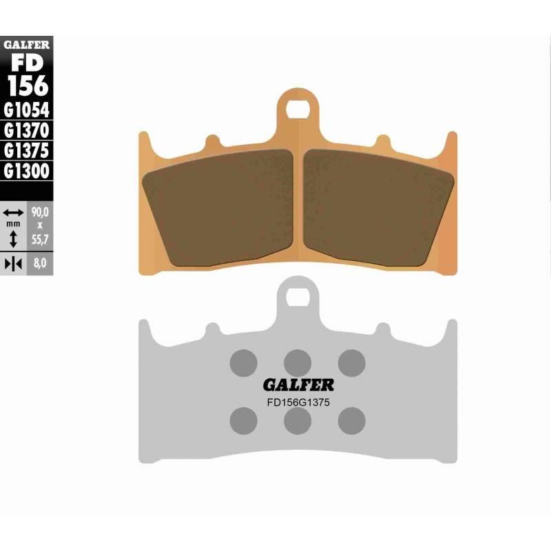 PASTILLAS FRENO GALFER FD156-G1375 MOTO (cerámico/metálico)