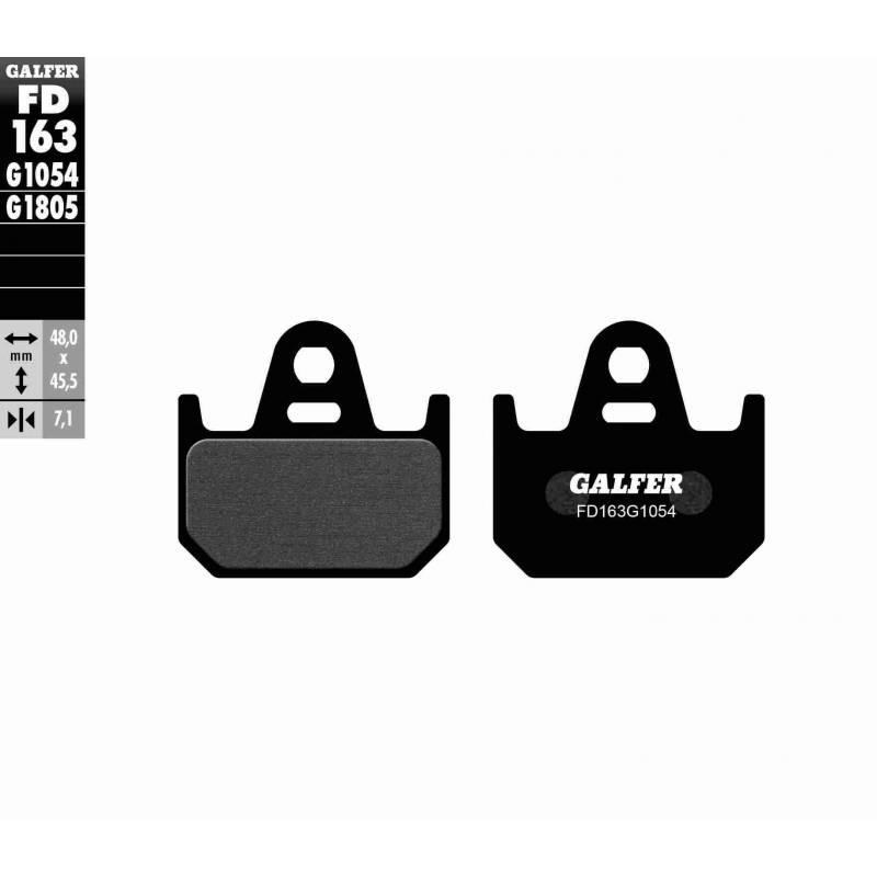 PASTILLAS FRENO GALFER FD163-G1054 (semi-metálicas)