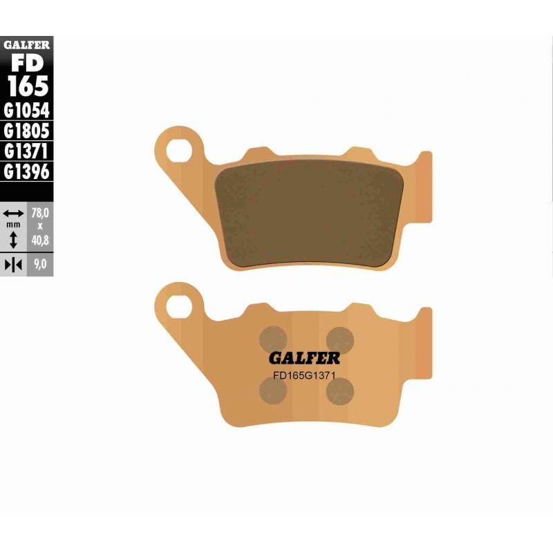 PASTILLAS FRENO GALFER FD165-G1371 MOTO (sinterizado) traseras