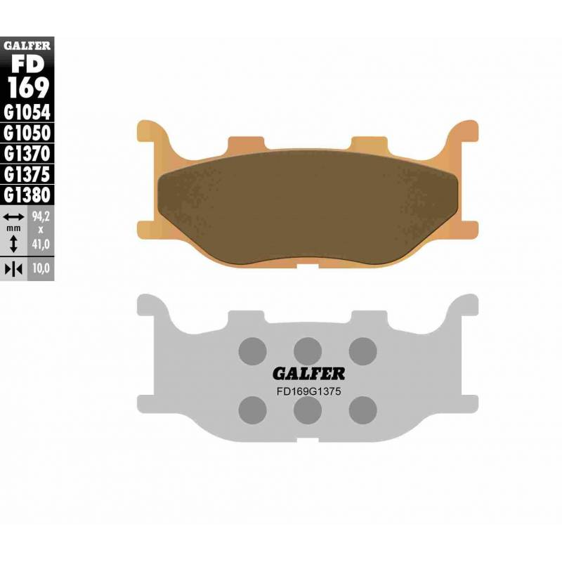 PASTILLAS FRENO GALFER FD169-G1375 MOTO (cerámico/metálico)