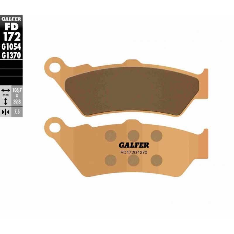 PASTILLAS FRENO GALFER FD172-G1370 MOTO (sinterizado)