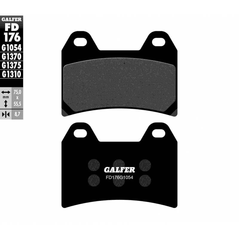 PASTILLAS FRENO GALFER FD176-G1054 (semi-metálicas)