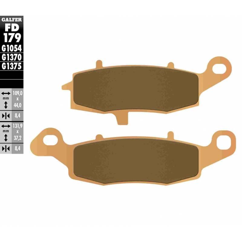PASTILLAS FRENO GALFER FD179-G1370 MOTO (sinterizado)