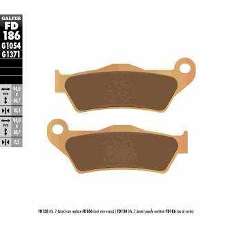 PASTILLAS FRENO GALFER FD186-G1371 MOTO (sinterizado) traseras