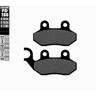 PASTILLAS FRENO GALFER FD188-G1054 (semi-metálicas)