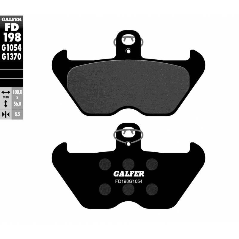 PASTILLAS FRENO GALFER FD198-G1054 (semi-metálicas)